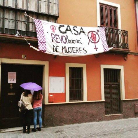 The new 'La Rovó' Occupied autonomous Feminist centre, June 2016