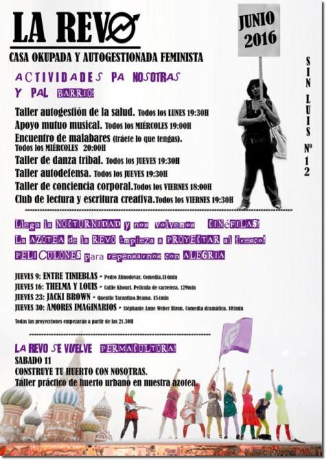 June 2016 agenda for the new La Revó' Pccupation