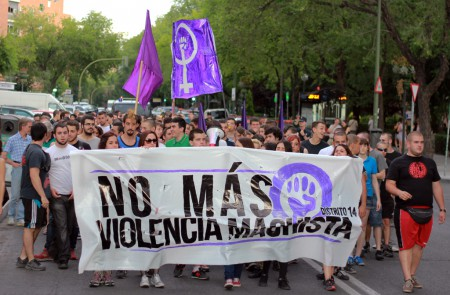 Anti male violence demo organised by the District 14 Collective in Madrid