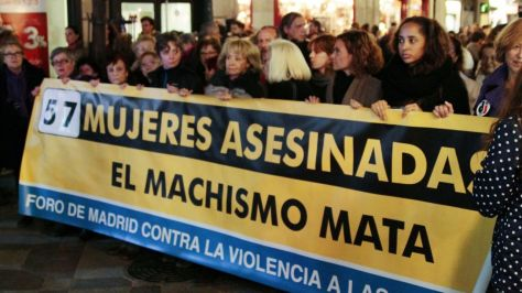 57 Women murdered by gender Violence so far..Madrid against violence to women..