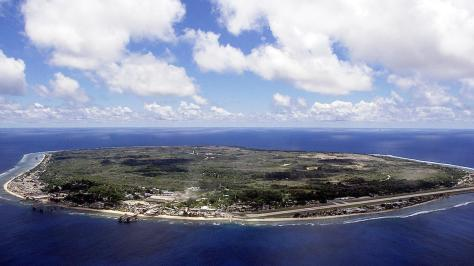 NAURU, NAURU: The barren and bankrupt island state of the Republic of Nauru Nauru has been devastated by phosphate mining