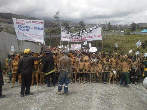 confrontation at the criminal Barrick Mine