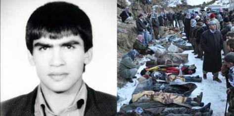 Mazlum Dogan, and a photo of civilian victims of Erdogan's continuing massacres of Kurds