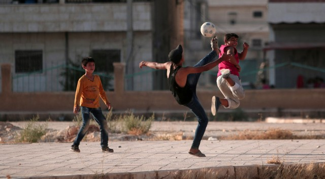 Boys celebrated ISIS liberation playing football