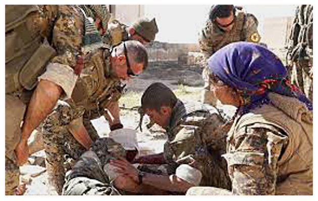 YPG medic volunteers
