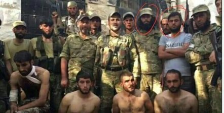 Turkey's new proxies walked into Syria as Turkey invaded and captured 4 Kurdish soldiers who were evacuating wounded civilians. The new SMB Turkish sponsored yihadists tortured the 4 ( ISIS 2) arrested and paraded them naked round the town of Jarablus. The 2 circled were later arrested themselves by the Kurdish SDF, but not tortured.
