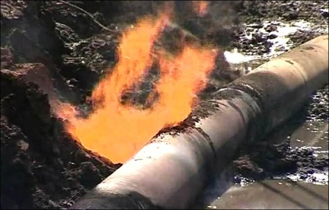 As an example of the dangers: Aug 10th. 5 children and b adults were burned alive in New Mexico when a pipeline of frack-gas exploded like a giant flamethrower and incinerated them 200 yards away.