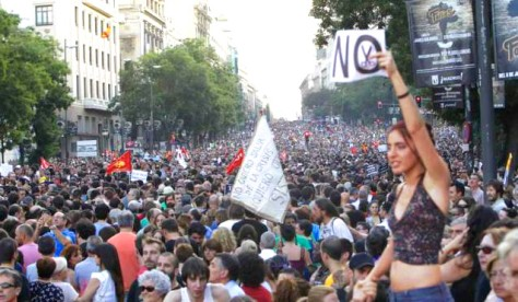 As in Greece and France. million strong demos and General Strikes are just ignored.