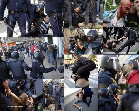 Spanish anti corruption protestors mistreated and repressed
