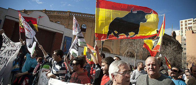 Bullfighting is popular on fascist demonstrations