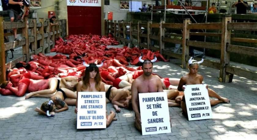 anti bull torture in Pamplona