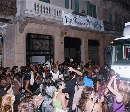 July 2010, The Protest March for the eviction of the Free University La Rimaia ended up with a new occupied centre..La Rimaia Lives