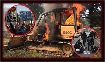 Sabotage! $2 million in Diggers Torched at Dakota Pipeline
