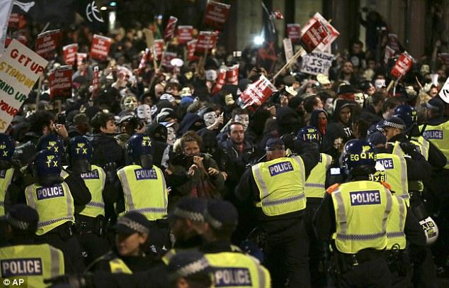 Million Mask March at Buckingham Palace