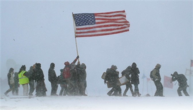 #NoDAPL Defenders trapped by Blizzard. Many Refuse  Evacuation