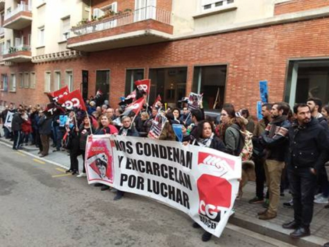 demo for Lola outside Greek Consulate in Barcelona