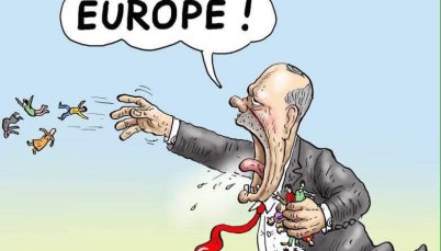 Shame: EU gives 595 million euros Blackmail Payment to nazi dictator Erdogan