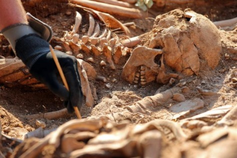 victim unearthed in Burgos with 100 comrades last year