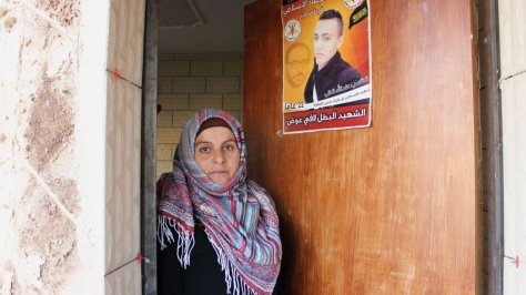 Amira Awad's son, Lafee, was killed by Israeli forces during a non-violent protest in 2015 [Jaclynn Ashly/Al Jazeera]