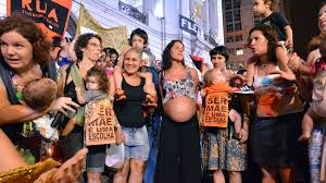 Brazilian demo against new laws further restricting abortion and women's rights