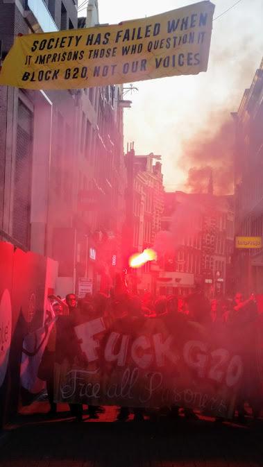 Report: Solidarity Demo in #Amsterdam for #NoG20 Prisoners