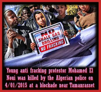 Argelia da luz verde al Fracking Gas con EU Imperialistas TOTAL y CEPSA