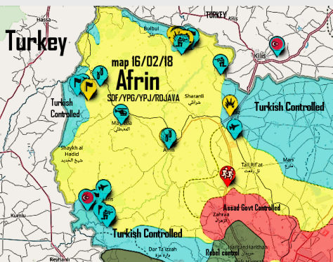 Afrin Diary Of Turkish InvasionDetailed SDF Report 8 To 15 - Anti Fascismos Map Us