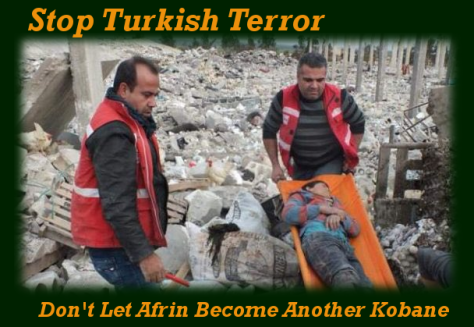 Stop Turkey's Crimes Against Humanity in #Afrin : powerpoint presentation