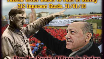The 1001 Crimes of Adolf Erdogan : #1002.. Abuses Little Girl on Stage