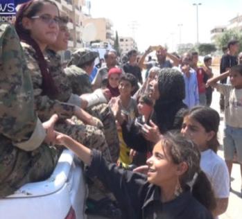 SDF and Women's Revolution in Manbij betrayed by Trump to Terrorist Erdogan