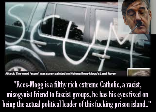 Far-right politician Jacob Rees-Mogg gets home-visit by