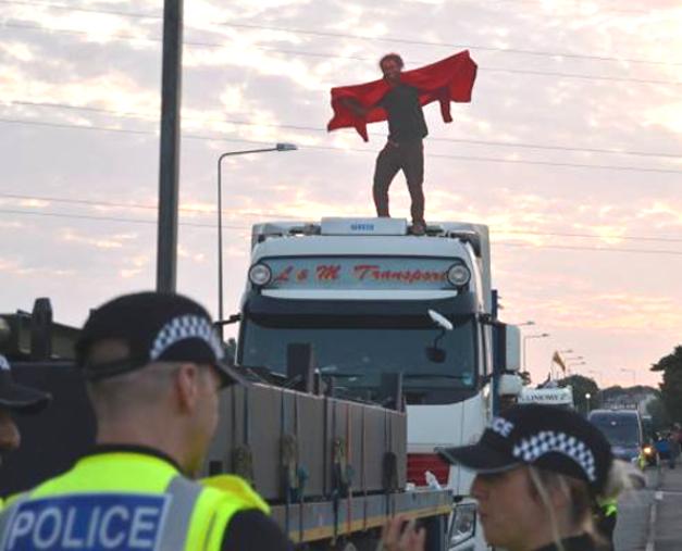 UK State Terror: 'Fracksurfers' jailed for opposing climatemeltdown
