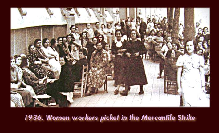 women strike 1936