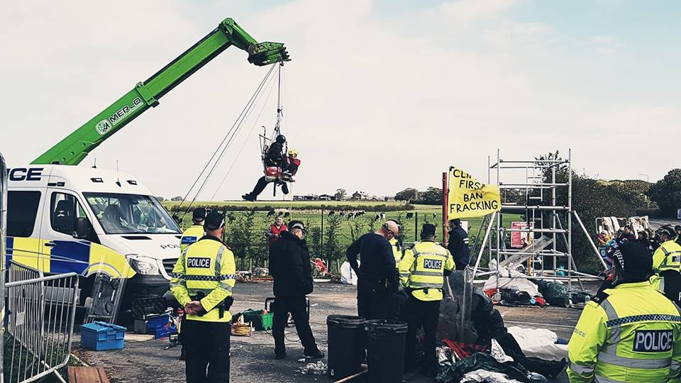 Anti-fracking protest outside shale gas site continues into third day
