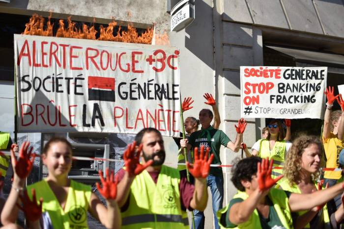 An activist walks into a bank… Climate Actions Across Europe