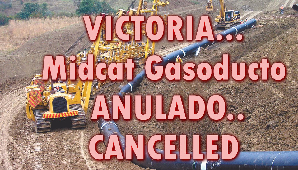 Gasoducto MidCat ANULADO … MidCat/STEP gas pipeline Cancelled! @NoMesGas