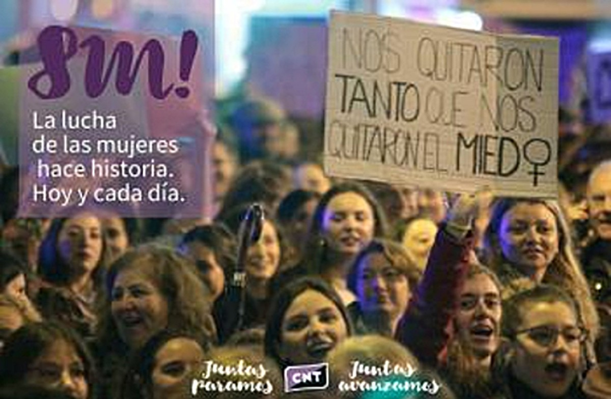 CNT and CGT to call a 24-hour feminist general strike on March8