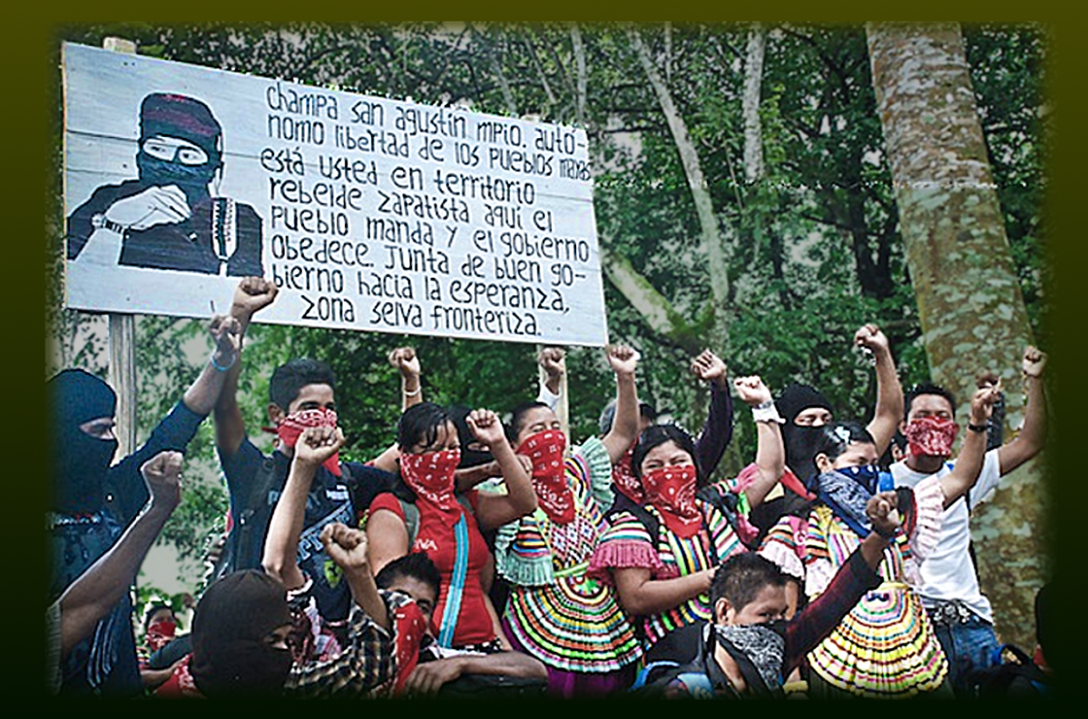Zapatistas resisting  ecocidal Highway and Luxury Hotels