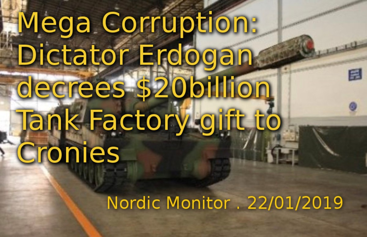 Dictator Erdogan decrees $20 billion Tank Factory gift to Cronies