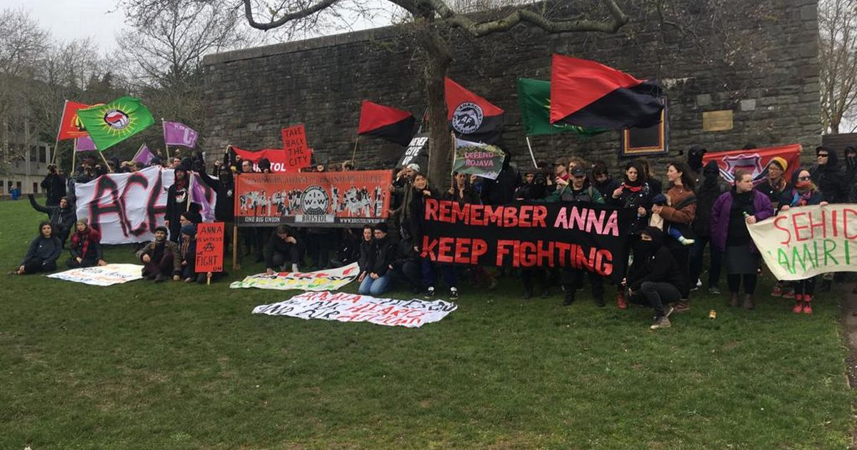 Anna is with us, we fight on! Bristol Antifascists Demo