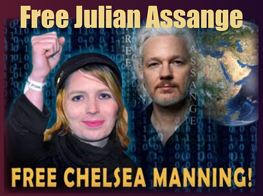 Belmarsh Prisoners get Assange out of Solitary  Assange-and-manning