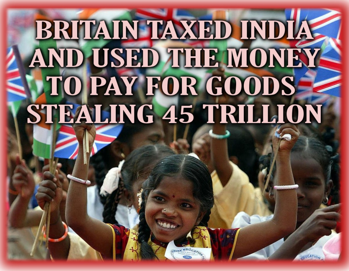 How Britain stole $45 trillion from India .. And lied about it.