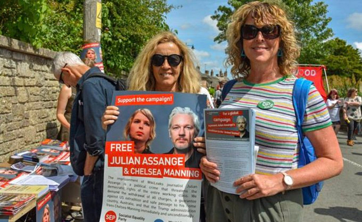 Free Assange campaign and Hungerstrike .  Stop the EvilEmpire