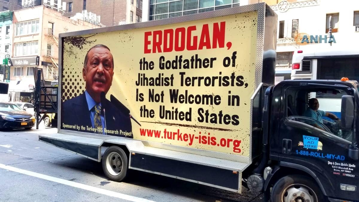 """Arrest killer Erdogan, the Godfather of Jihadist Terrorists,.."""