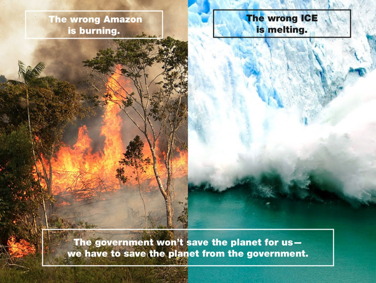The Wrong ICE is Melting, The Wrong Amazon is Burning