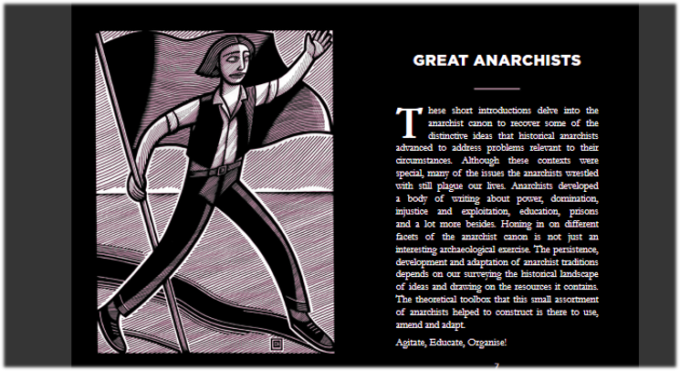 'Great Anarchists'-book being crowdfunded by Dog Section Press