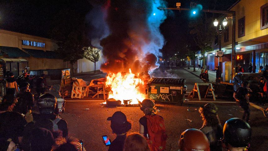 Police Precinct Set on Fire in Portland, Oregon as Uprising Continues