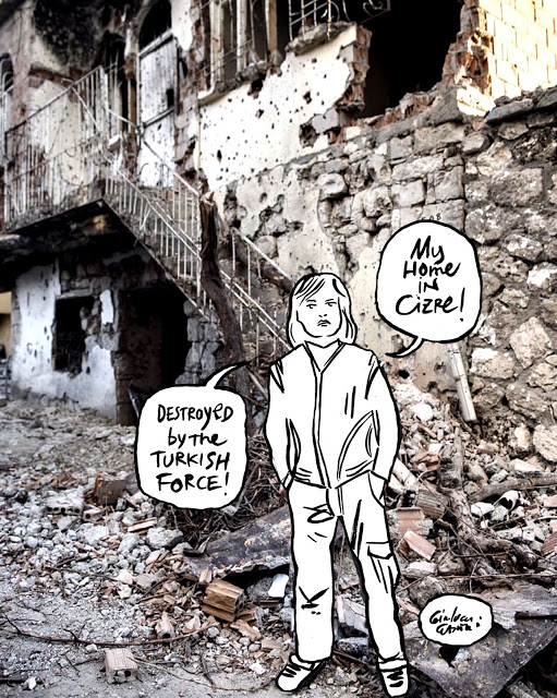 Channeldraw: My home in Cizre. Destroyed by the turkish force!