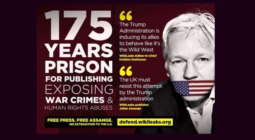 What are They Hiding? Human Rights Groups Blocked from Monitoring Julian Assange Trial Assange-175-yrs