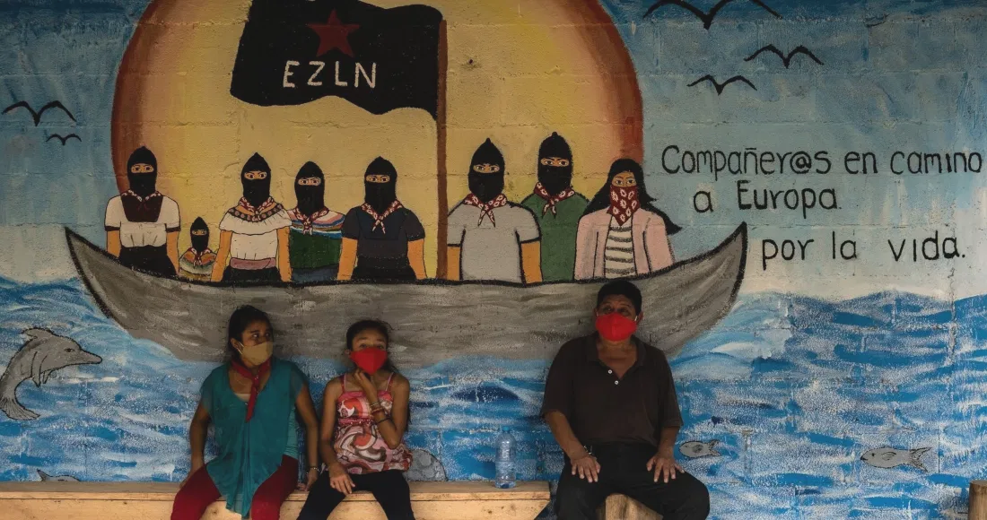 """Zapatistas leave Portugal for Spain on their """"Journey for life""""  — parten de Portugal rumbo a EspañaEng/Esp/Fr"""
